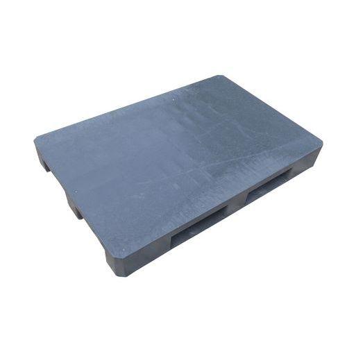 Manutan Plastová paleta, 15 x 120 x 80, Max. statické zatížení: 5000 kg, Materiál: plast, Šířka: 800 mm, Délka: 1200 mm, Výška: 150 mm, Max. dynamické zatížen