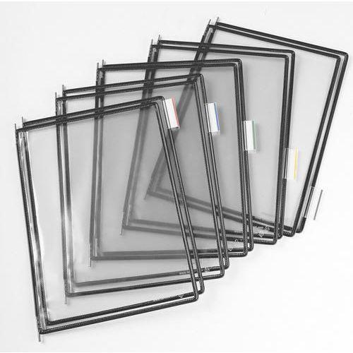 Informační rámečky Tarifold A4, 10 ks, šedé