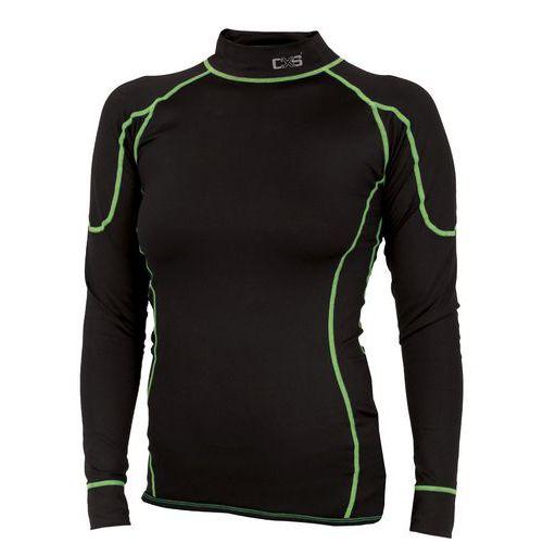 Dámské termo tričko s dlouhým rukávem, černé/zelené