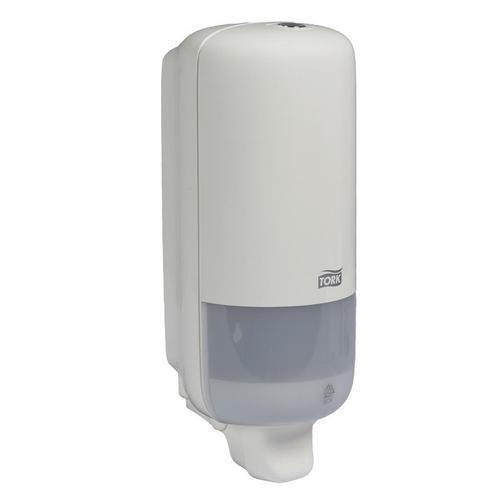 Dávkovač tekutého mýdla Tork S-Box S1, na výměnné náplně, 1 l, bílý