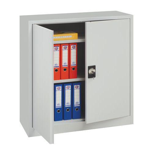 Kovová spisová skříň, 2 police, 100 x 92,5 x 42,2 cm