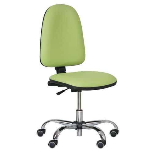 Pracovní židle Torino plus s měkkými kolečky, zelená