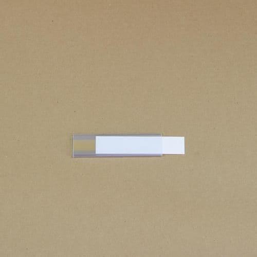 Manutan držák etiket na regály, samolepicí, 25 x 100 mm