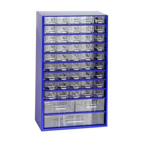 Kovový organizér, 48 zásuvek, modrý - Prodloužená záruka na 10 let