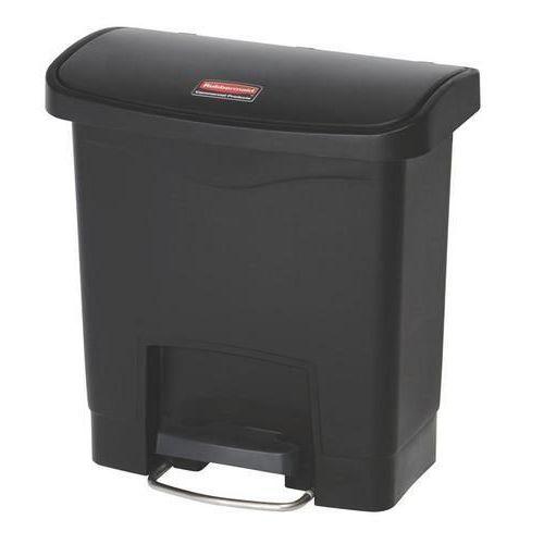 Plastový odpadkový koš Rubbermaid Front Step, objem 15 l, černý
