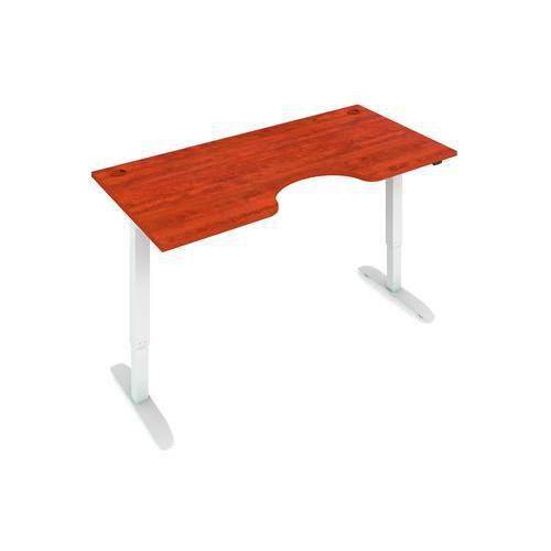 Ergo výškově nastavitelný kancelářský stůl MOTION ERGO, 160 x 90 cm, buk/šedý - Prodloužená záruka na 10 let