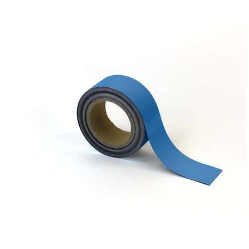 Magnetická páska na regály Manutan, 10 m, modrá, šířka 50 mm