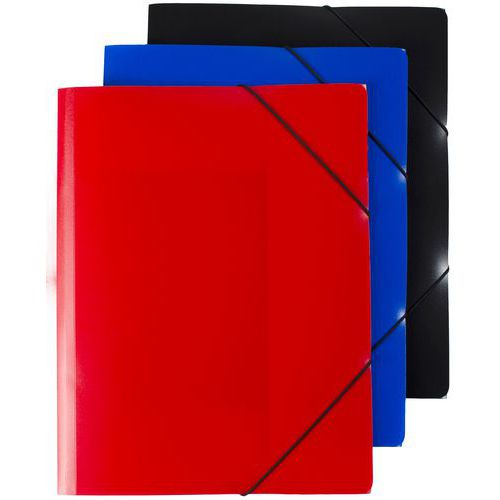Plastové spisové desky Trio, 20 ks, antracit