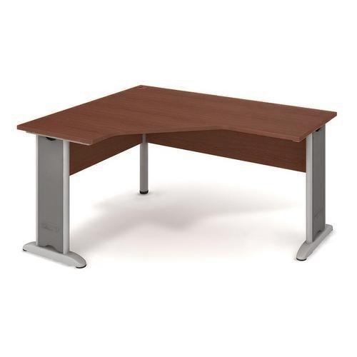 Rohový kancelářský stůl Cross, 160 x 120 x 75,5 cm, levé provedení, dezén ořech - Prodloužená záruka na 10 let