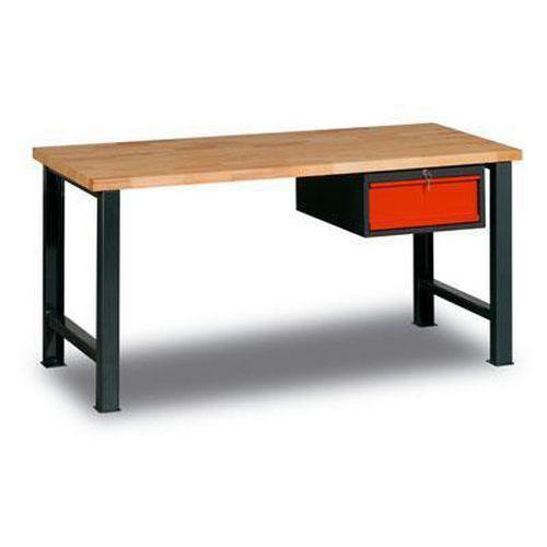 Dílenský stůl Weld se zásuvkou, 84 x 170 x 68,5 cm, antracit - Prodloužená záruka na 10 let