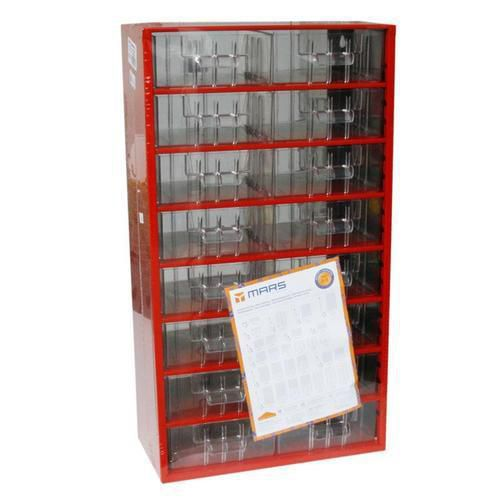 Kovový organizér, 16 zásuvek, červený - Prodloužená záruka na 10 let