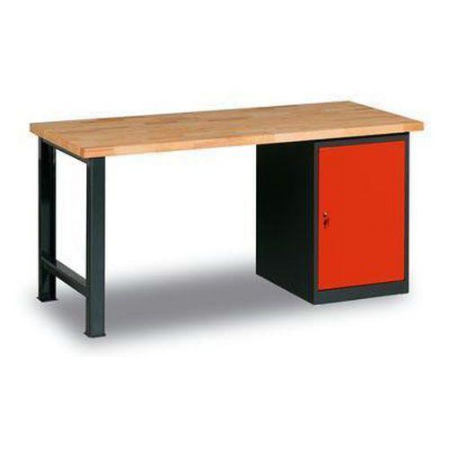 Dílenský stůl Weld se skříňkou 80 cm, 84 x 170 x 68,5 cm, antracit - Prodloužená záruka na 10 let