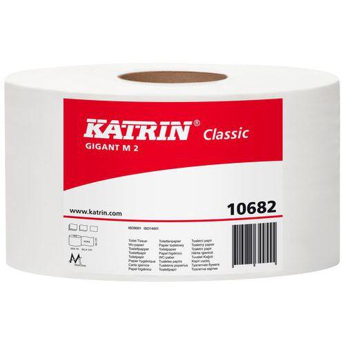 Toaletní papír Katrin Classics Gigant M2 2vrstvý, 23 cm, 2 560 útržků, 75% bílá, 6 rolí