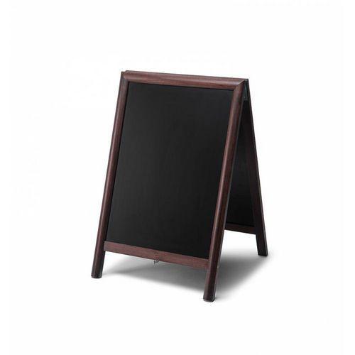 Reklamní křídová tabule A, tmavě hnědá, 81 x 55 cm