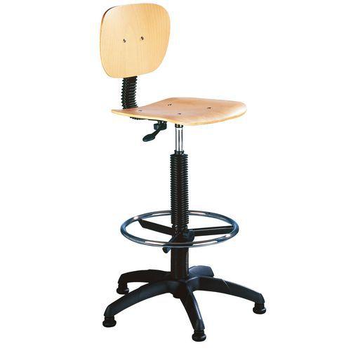 Zvýšená pracovní židle Natura s kluzáky