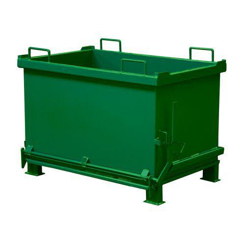 Kontejner s výklopným dnem, objem 1 000 l, zelený