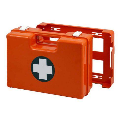 Plastový kufr první pomoci se stěnovým držákem, 25 x 33,5 x 12,3