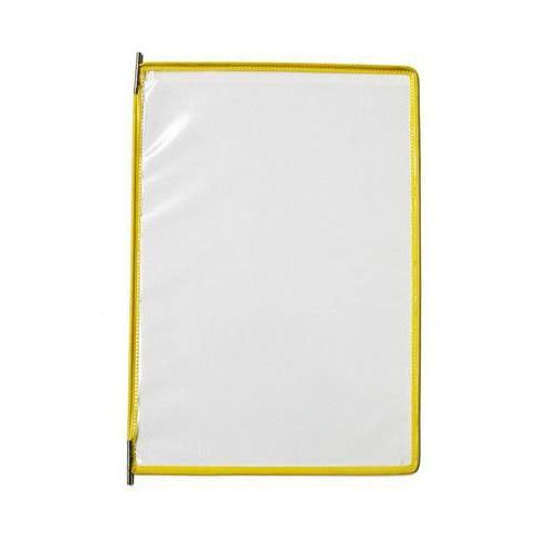 Informační rámeček A4, žlutý, balení 10 ks