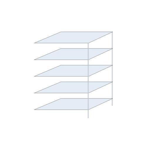 Kovový regál, přístavbový, 200 x 130 x 80 cm, 1 300 kg, 5 polic
