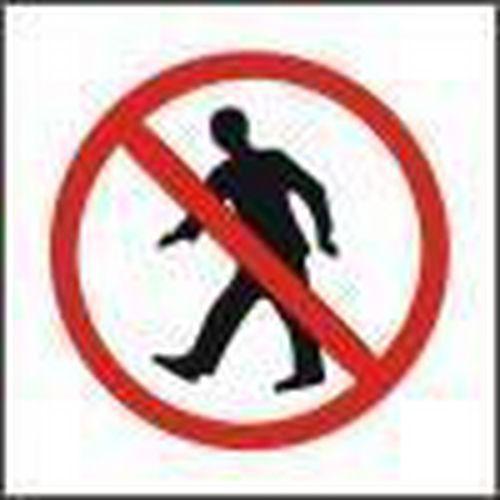Zákazová bezpečnostní tabulka - Zákaz vstupu, samolepicí fólie