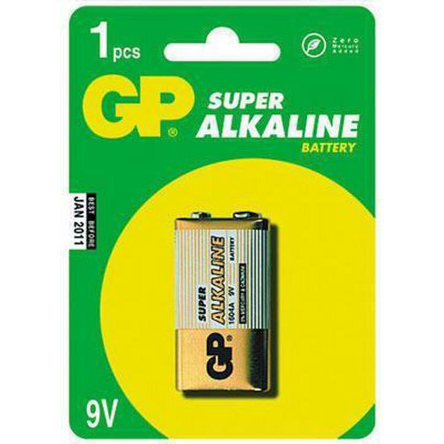 Baterie GP Super Alkaline 9V 1ks - blistr