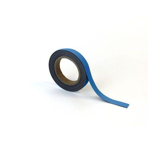 Magnetická páska na regály Manutan, 10 m, modrá, šířka 20 mm
