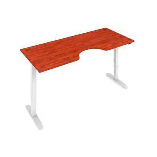 Ergo výškově nastavitelný kancelářský stůl MOTION ERGO, 180 x 90 cm, buk/šedý - Prodloužená záruka na 10 let