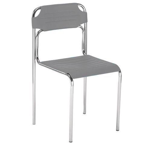 Plastová jídelní židle Cortessa, šedá