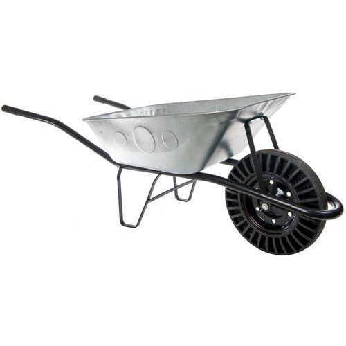 Stavební kolečko s plným kolem, kovové, objem 80 l