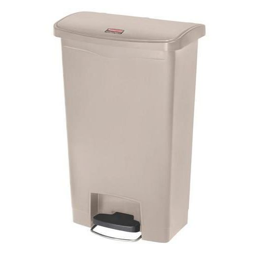 Plastový odpadkový koš Rubbermaid Front Step, objem 50 l, béžový - Prodloužená záruka na 10 let