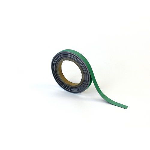 Magnetická páska na regály Manutan, 10 m, zelená, šířka 15 mm