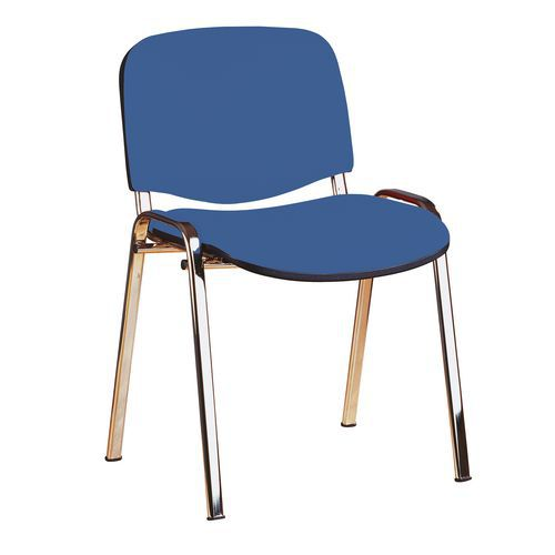 Konferenční židle Manutan ISO Chrom, modrá