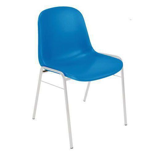 Plastová jídelní židle Manutan Shell, modrá