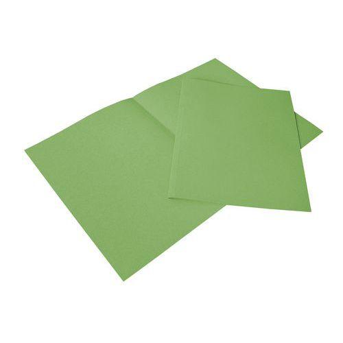 Papírové spisové desky Lenny, 100 ks, zelené