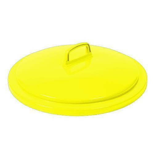 Víko na odpadkové koše, 75 l, žluté