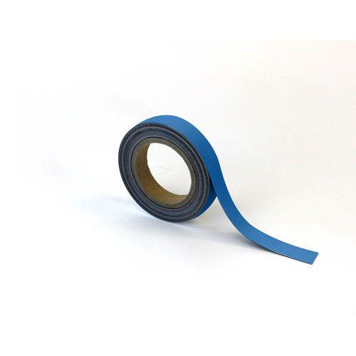 Popisovatelná páska na regály, magnetická, modrá, 2,5 x 1000 cm