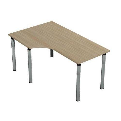Ergo kancelářský stůl Set line, 160 x 100 x 75 cm, levé provedení, světlé dřevo