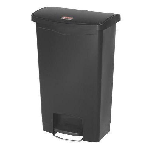 Plastový odpadkový koš Rubbermaid Front Step, objem 50 l, černá - Prodloužená záruka na 10 let