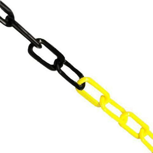 Plastový řetěz k zahrazovacím sloupkům, 25 m, černý/žlutý