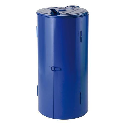 Stojan Meva na odpadkové pytle s víkem, modrý