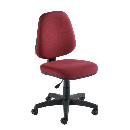 Manutan Kancelářská židle Single, vínová - Prodloužená záruka na 10 let