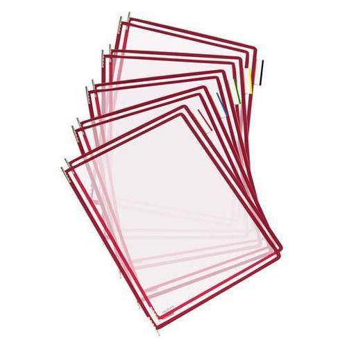 Informační rámečky Tarifold A4, 10 ks, bordó