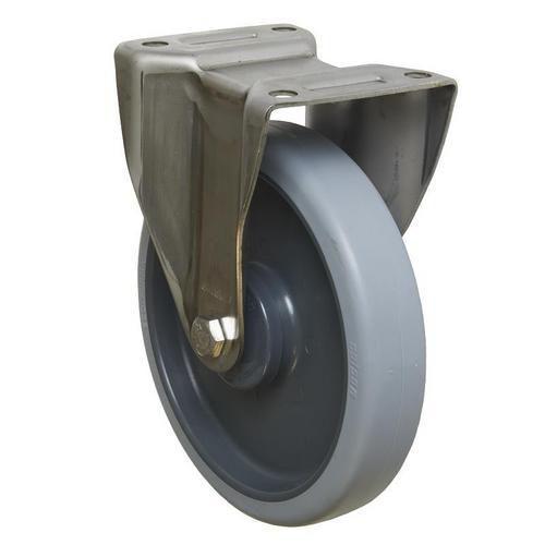Gumové transportní kolo s přírubou, průměr 200 mm, valivé ložisk