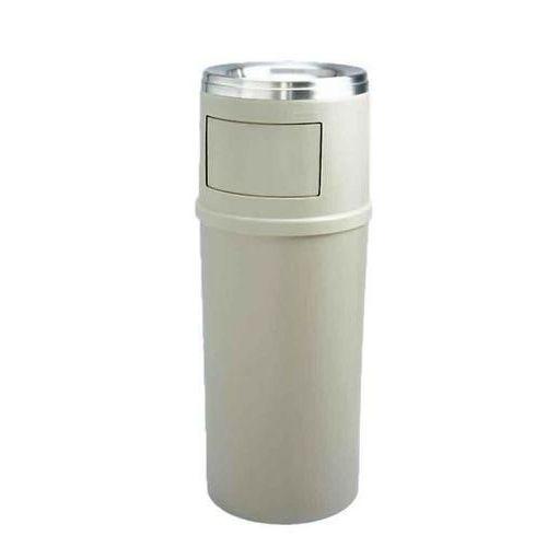 Plastový venkovní samozhášecí odpadkový koš Rubbermaid Ash/Trash s popelníkem, objem 56,8 l