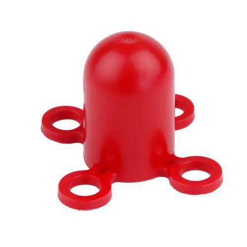 Klobouček na zahrazovací sloupek, červený