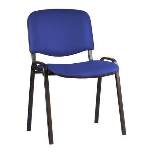 Konferenční židle ISO Leath Black, modrá