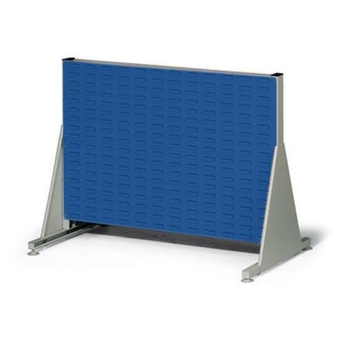 Jednostranný PERFO regál, výška 78 cm, modrý