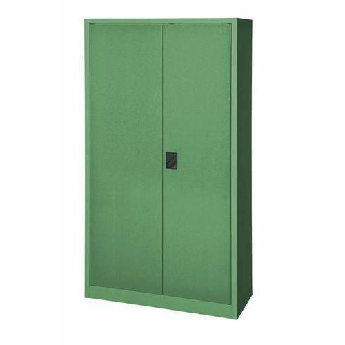 Kovová dílenská skříň, 195 x 104,4 x 62,5 cm, zelená