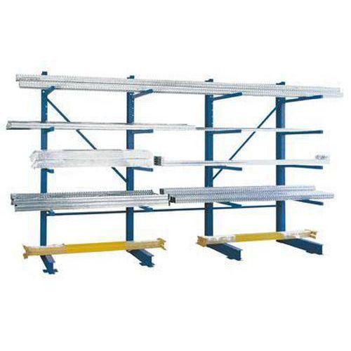 Jednostranný konzolový regál, základní 300 x 120 x 50 cm, 2 500 kg, 8 konzolí