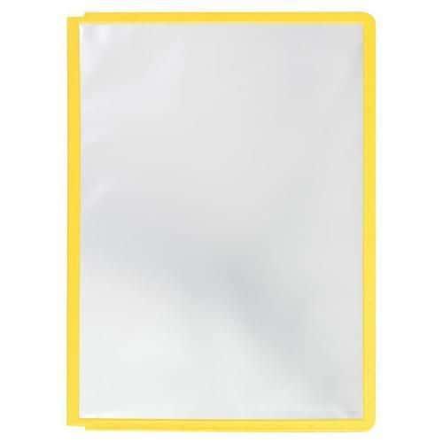 Informační rámečky Cordoba A4, 10 ks, žluté